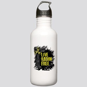 Live Radon Free - Lung Cancer Awareness Stainless