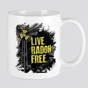 Live Radon Free - Lung Cancer Awareness Mug