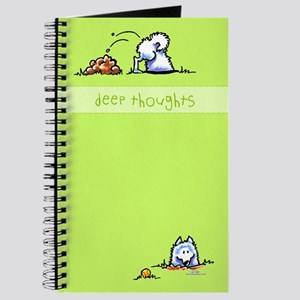 Samoyed Eskie Deep Thoughts Journal