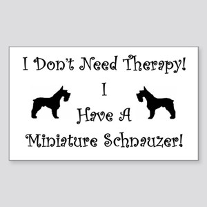 SchnauzerTherapy Sticker