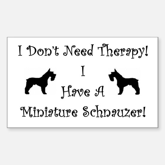 SchnauzerTherapy Decal