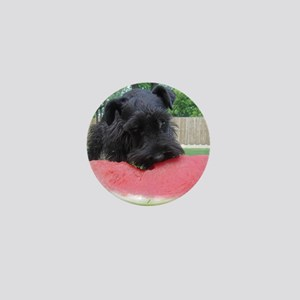 Black Miniature Schnauzer Mini Button