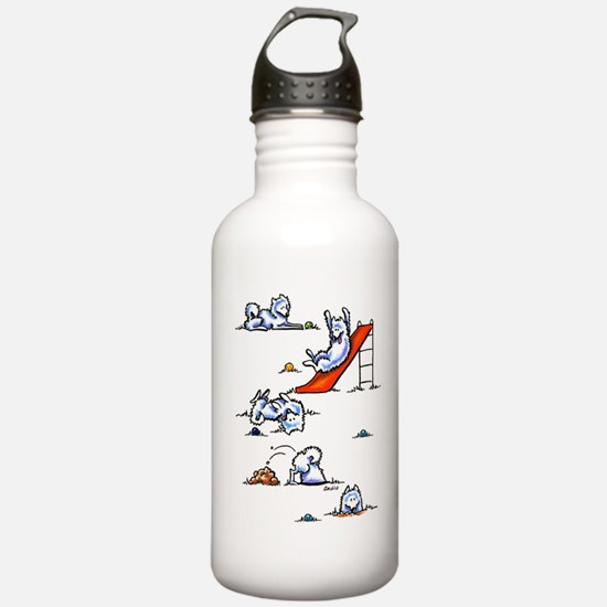Samoyed Eskie Playground Water Bottle