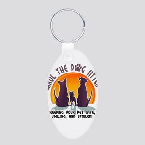 Carol The Dog Sitter with Tag Line Aluminum Oval K