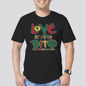 Love At First Bite Men's Fitted T-Shirt (dark)