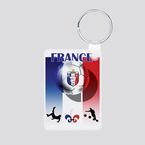 France French Football Aluminum Photo Keychain