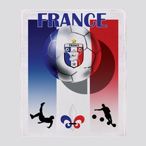 France French Football Throw Blanket