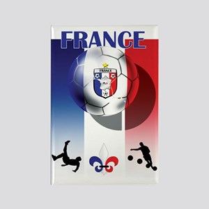France French Football Rectangle Magnet