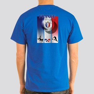 France French Football Dark T-Shirt