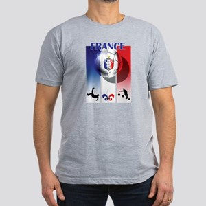 France French Football Men's Fitted T-Shirt (dark)