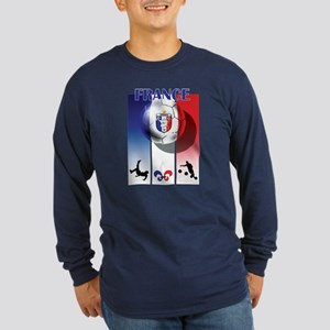 France French Football Long Sleeve Dark T-Shirt