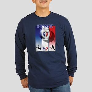 France French Football Long Sleeve Dark T-Shirt
