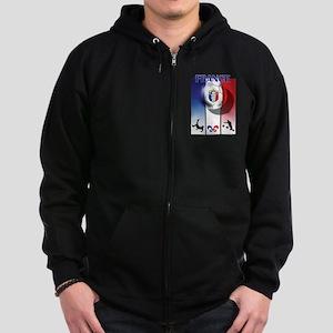 France French Football Zip Hoodie (dark)