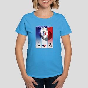France French Football Women's Dark T-Shirt