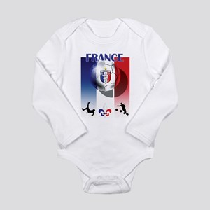 France French Football Long Sleeve Infant Bodysuit