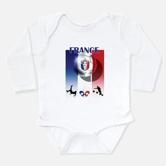 France French Football Long Sleeve Infant Bodysuit