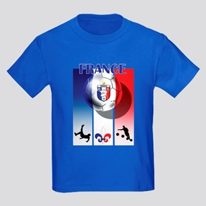France French Football Kids Dark T-Shirt