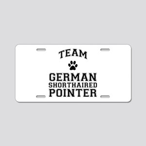 Team German Shorthaired Pointer Aluminum License P