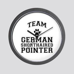Team German Shorthaired Pointer Wall Clock