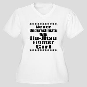 Never Underestima Women's Plus Size V-Neck T-Shirt