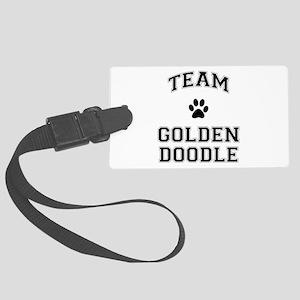 Team Goldendoodle Large Luggage Tag