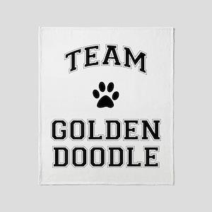 Team Goldendoodle Throw Blanket