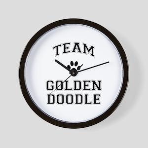 Team Goldendoodle Wall Clock