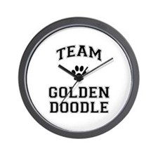 Team Goldendoodle Wall Clock