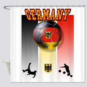 Germany Football Shower Curtain