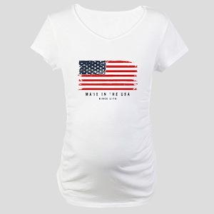 American Flag Maternity T-Shirt