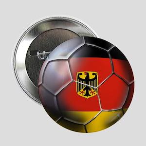 """German Soccer Ball 2.25"""" Button"""