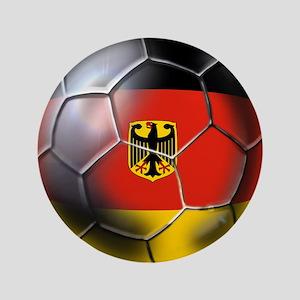 """German Soccer Ball 3.5"""" Button"""