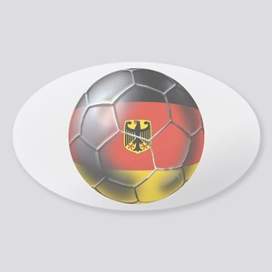 German Soccer Ball Sticker (Oval)