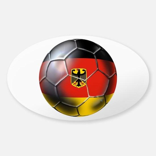 German Soccer Ball Sticker (Oval)