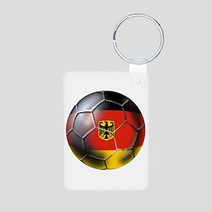 German Soccer Ball Aluminum Photo Keychain