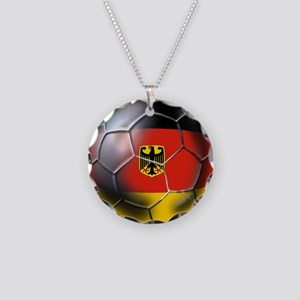 German Soccer Ball Necklace Circle Charm