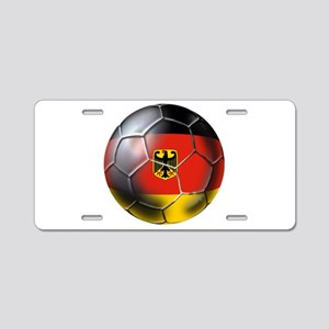 German Soccer Ball Aluminum License Plate