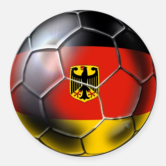 German Soccer Ball Round Car Magnet