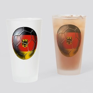 German Soccer Ball Drinking Glass