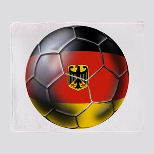 German Soccer Ball Throw Blanket