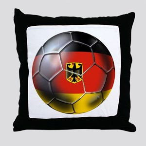 German Soccer Ball Throw Pillow