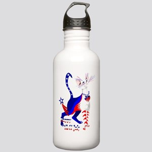 4th Of July American Kitty Shirt Stainless Water B