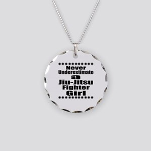 Never Underestimate Jiu-Jits Necklace Circle Charm