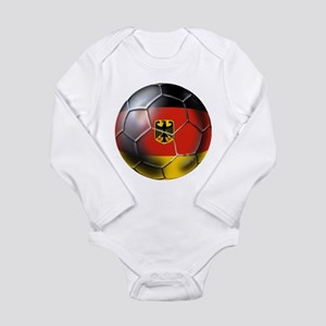 German Soccer Long Sleeve Infant Bodysuit