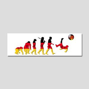 German Football Evolution Car Magnet 10 x 3