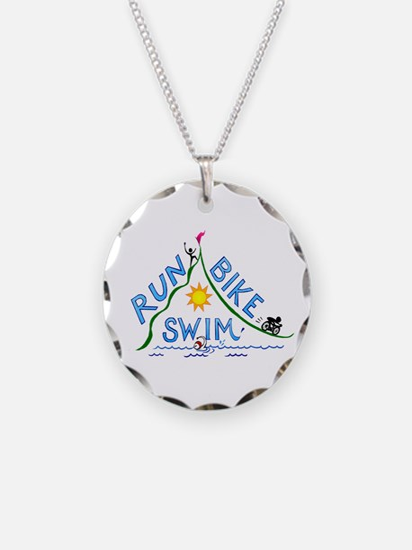 Run, Bike, Swim Necklace