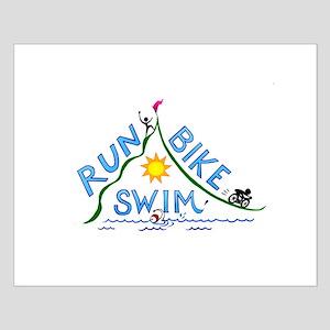 Run, Bike, Swim Small Poster