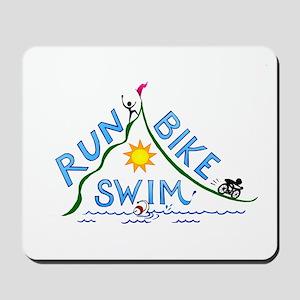 Run, Bike, Swim Mousepad