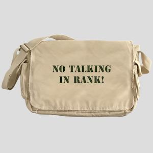 No Talking Messenger Bag