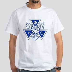 Alpha Phi Omega Crest and Letters Bl White T-Shirt